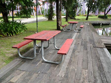 seat in garden photo