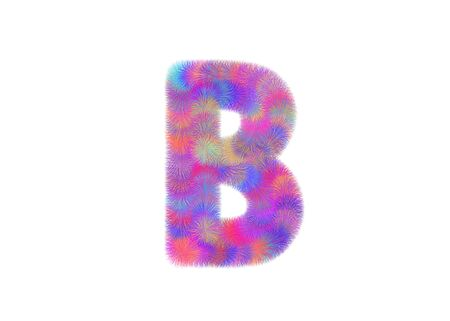 fur: colorful font from fur alphabet
