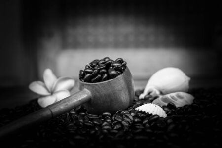 porches: coffee cup and beans