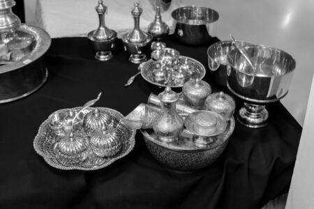 cubiertos de plata: platería thaistyle blanco y negro