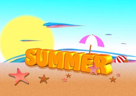 sumer: 3d summer on the beach