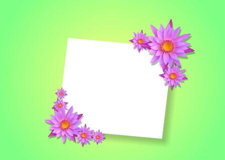quite: 3d lotus on background Stock Photo