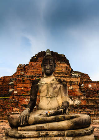 Thai Buddha statue in Wat Mahathad , Ayutthaya Thailand Stock Photo - 14895400