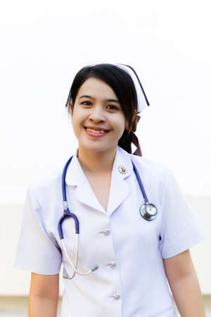 Nurse smiling with stethoscope