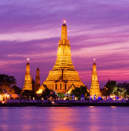 Wat Arun historical park and Chawpraya river photo
