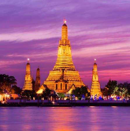 phraya: Wat Arun historical park and Chawpraya river