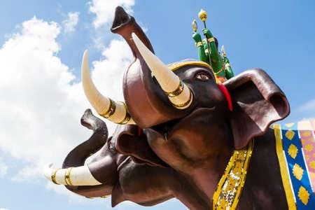 kathmandu: Elephant status Stock Photo
