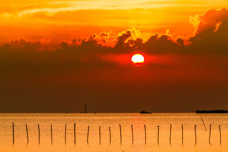 Tropical sunset on the sea photo