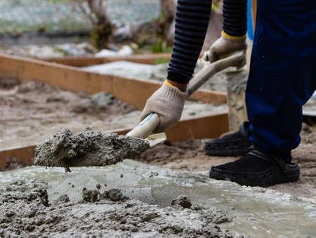 mortero: Trabajador de la construcci�n hormigoneras