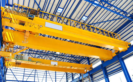 construction crane: Factory overhead crane Stock Photo