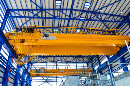 Factory overhead crane  Stock Photo - 18425510