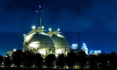 industria petroquimica: Tanques esfera de almacenamiento de GLP de gas industriales Editorial