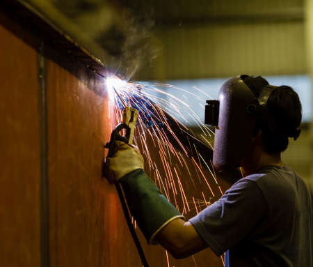 Welder in a factory  photo