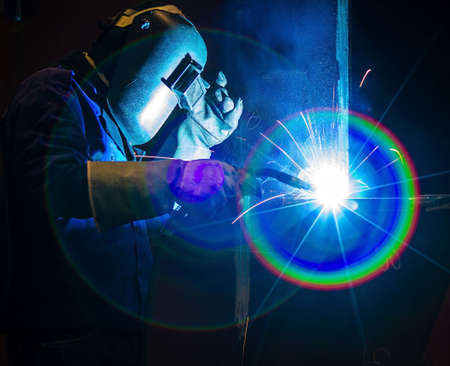 welding metal: Welding steel structure