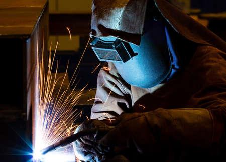 soldador: Estructura de acero de soldadura