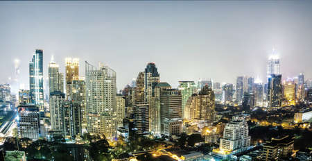 silom: Bangkok city night view