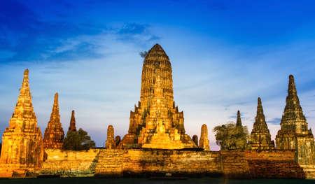 Chaiwatthanaram Temple in Ayutthaya,Thailand photo
