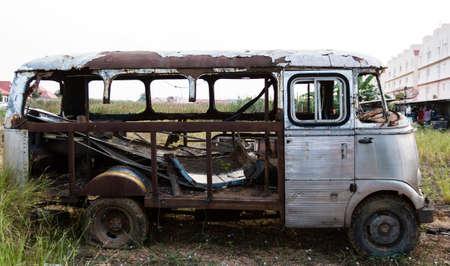 abandoned car: Rusty Old Abandoned Van