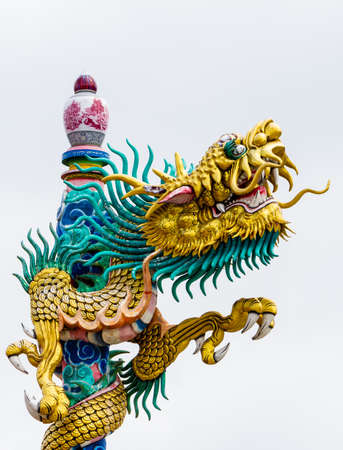 festival scales: Chinese style dragon statue  Stock Photo
