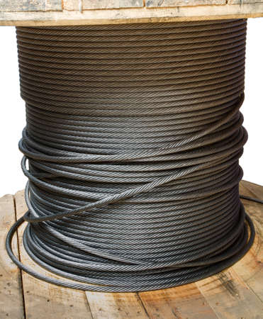 Wire rope cable spool photo