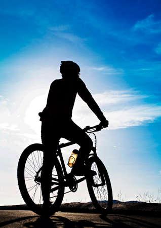 Silhoette of a biker