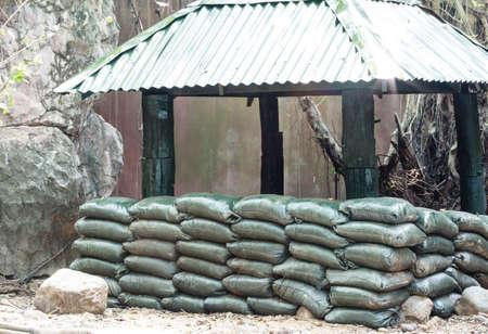 sandbag: Sandbag bunker