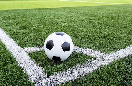 corner kick soccer: Football field conner  Stock Photo