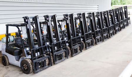 Modern forklift truck Stock Photo - 23724349