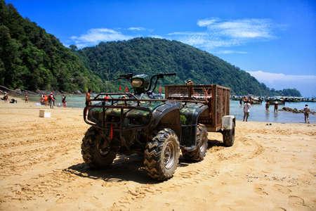 four wheel drive: Big ATV on the beach in Thailand
