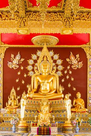 ワット ・ プラ ・ マハタート チェディ Chaimongkol、投資収益率エ タイの仏像 写真素材