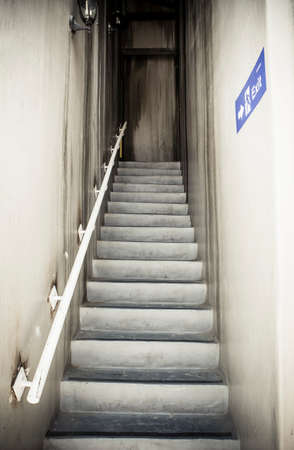 Emergency Exit and staircase (retro color) photo
