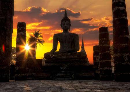 Sukhothai Historical Park in der Provinz Sukhothai in Thailand Standard-Bild - 30190017
