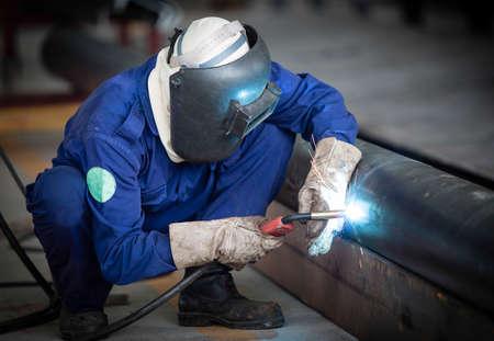 soldador: Los trabajos de soldadura