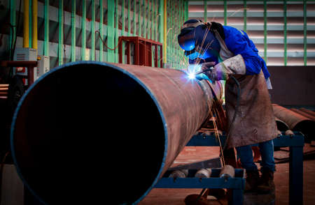 shipyard: Pipe welding on the pipeline construction