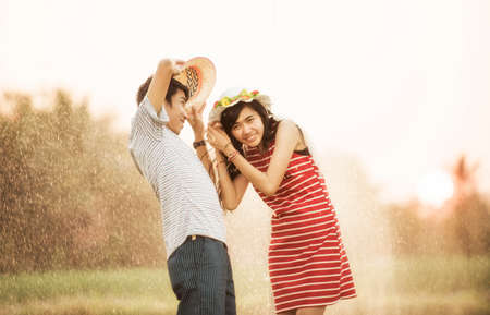affectionate actions: Romantic time in the rain