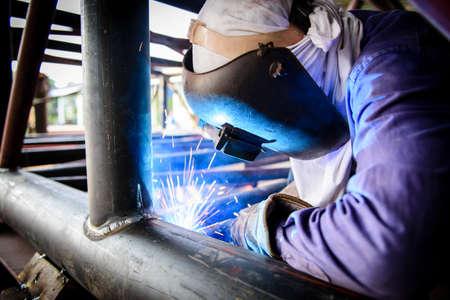 Schweißen Stahlkonstruktion Standard-Bild - 36223206
