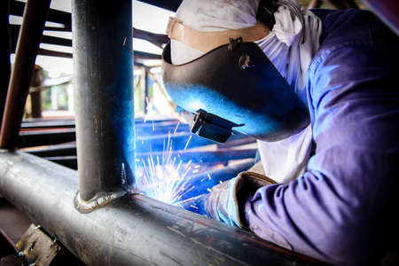 welding mask: Welding steel structure
