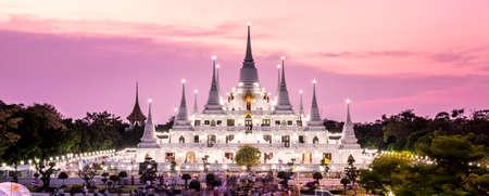 samutprakarn: Prang Temple Wat asokaram of Samutprakarn Province Thailand Stock Photo