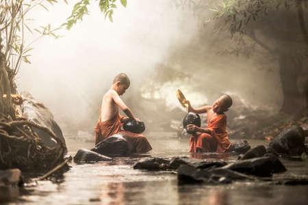 moine: Novice Monk en Tha�lande