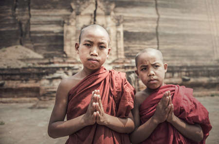 Novice monk in Myanmar