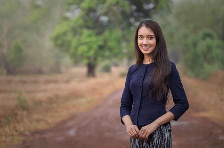 タイのローカル女性 写真素材