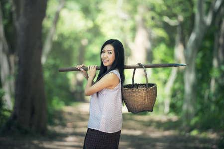 working woman: Thai local woman working, Thailand