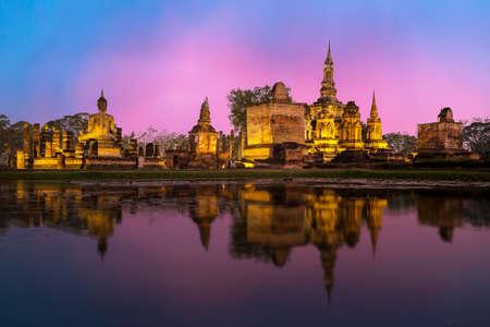 Sukhothai Historical Park, die Altstadt von Thailand in 800 Jahre vor Ort nördlich von Thailand Standard-Bild - 75634991