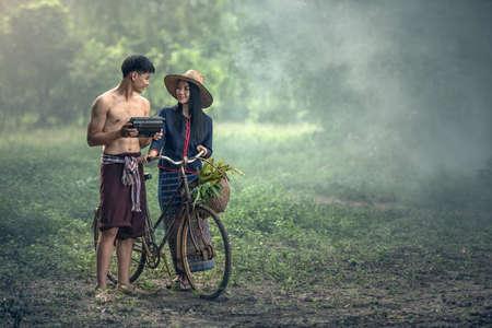 Thai couple farmer