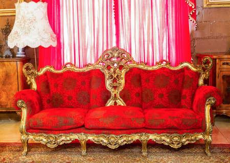 luxuriously: Luxurious furniture. Deluxe apartment Stock Photo