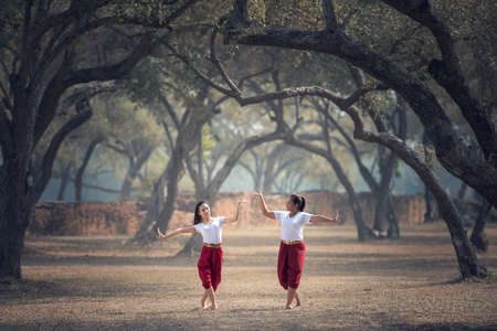 The practice pantomime in Thailand Zdjęcie Seryjne