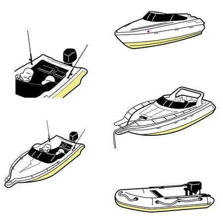 motor transport: differnet types of boat