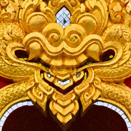 Thai style architecture on backgrounds
