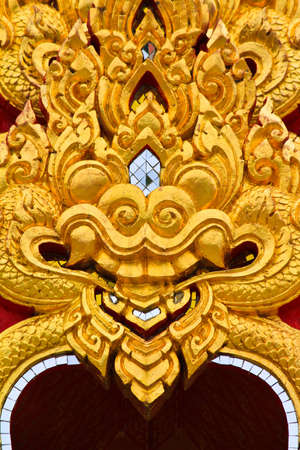 thai style architecture on backgrounds photo