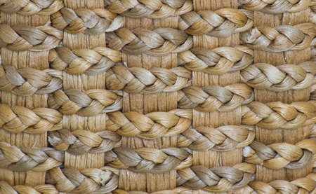 image of straw basket weave texture, close up. photo
